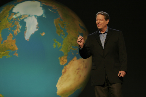 Al Gore presenting on climate change. Image credit Open Democracy via Flickr