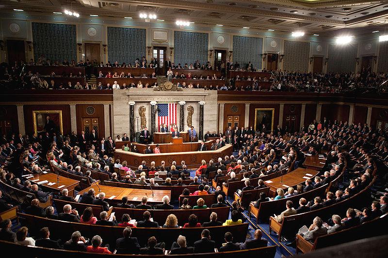 Congress at Obama's Healthcare speech [via public domain]