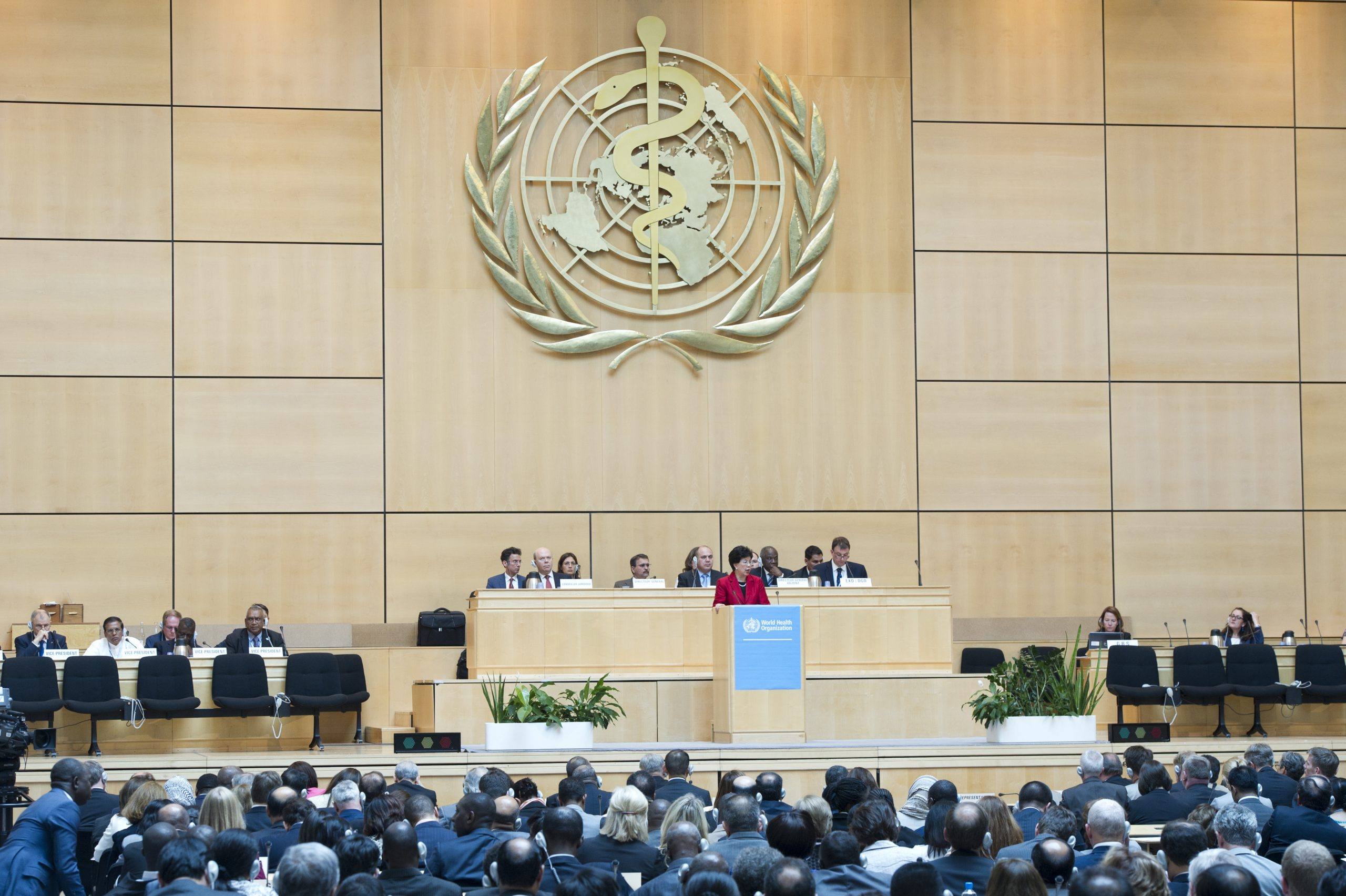 Dr Margaret Chan, WHO Director-General addresses during the 67th World Health Assembly, Palais des Nations, Geneva. Monday 19 May 2014. Photo by Violaine Martin