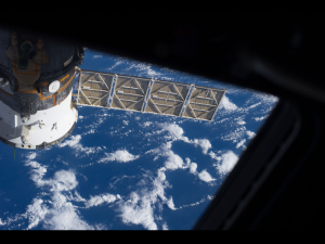 Russian Soyuz spacecraft docking on International Space Station. (Image Credit: NASA)