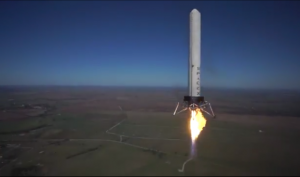 Grasshopper during test flight. (Image Credit: SpaceX)
